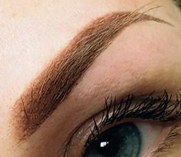 Augenbraue mit feinster Härchenzeichnung